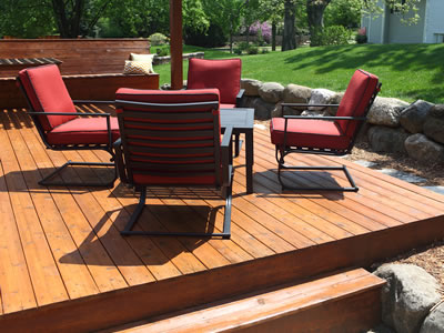 Custom Backyard Wooden Deck Greensboro Nc