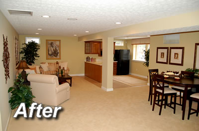 Basement Improvement Ideas basement remodel - attic refinishing greensboro nc | basement, man