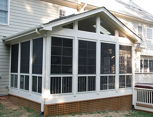 Screened porches durham screen in patio decks porches for Craftsman screened porch