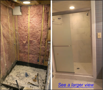 Remodel Bathroom Tub To Shower greensboro shower remodeling | bath tub to shower remodeling and