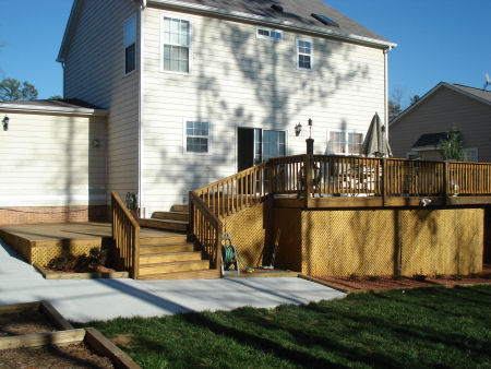 Winston Salem NC Wood Deck Builder
